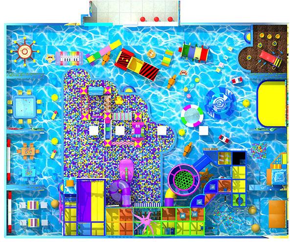 淘气堡儿童乐园俯视图