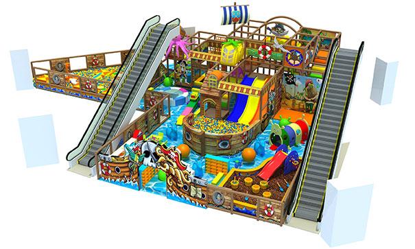 300平方米淘气堡现场带电梯效果图