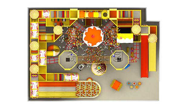 330平米儿童淘气堡乐园俯视图